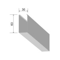 Кубообразная рейка 30/63 мм С - Скандинавский дизайн белый матовый 3306