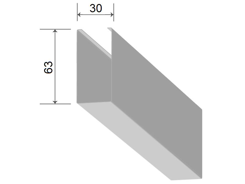 Кубообразная рейка 30/63 мм С - Скандинавский дизайн металлик 3313