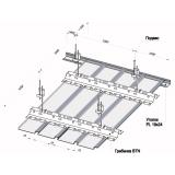 Реечный потолок Немецкий дизайн с закрытыми стыками перфорированный 100 мм белый матовый А902