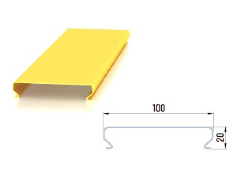 Реечный потолок ОМЕГА OMEGA 100 мм металлик А907