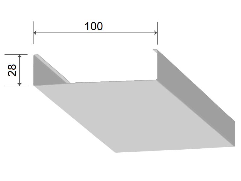 Кубообразная рейка 100/28 мм С - Скандинавский дизайн дуб селект 731