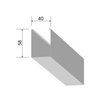 Кубообразная рейка 40/58 мм С - Скандинавский дизайн белый матовый 3306