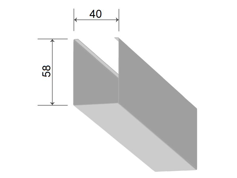 Кубообразная рейка 40/58 мм С - Скандинавский дизайн дуб селект 731
