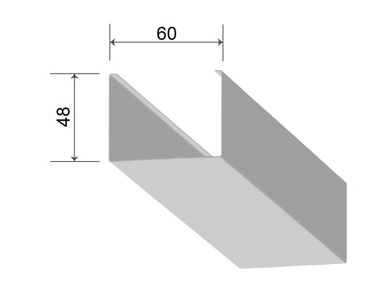 Кубообразная рейка 60/48 мм С - Скандинавский дизайн белый матовый 3306