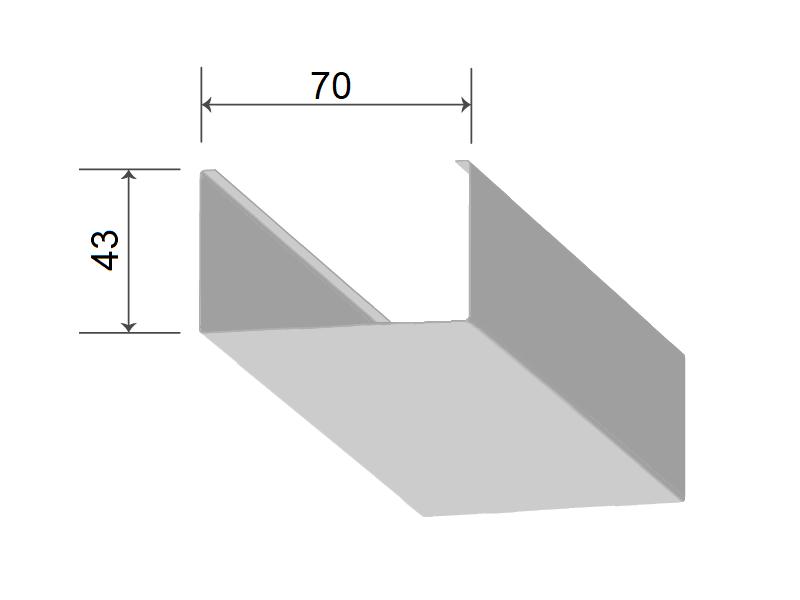 Кубообразная рейка 70/43 мм С - Скандинавский дизайн жемчужно-белый С01