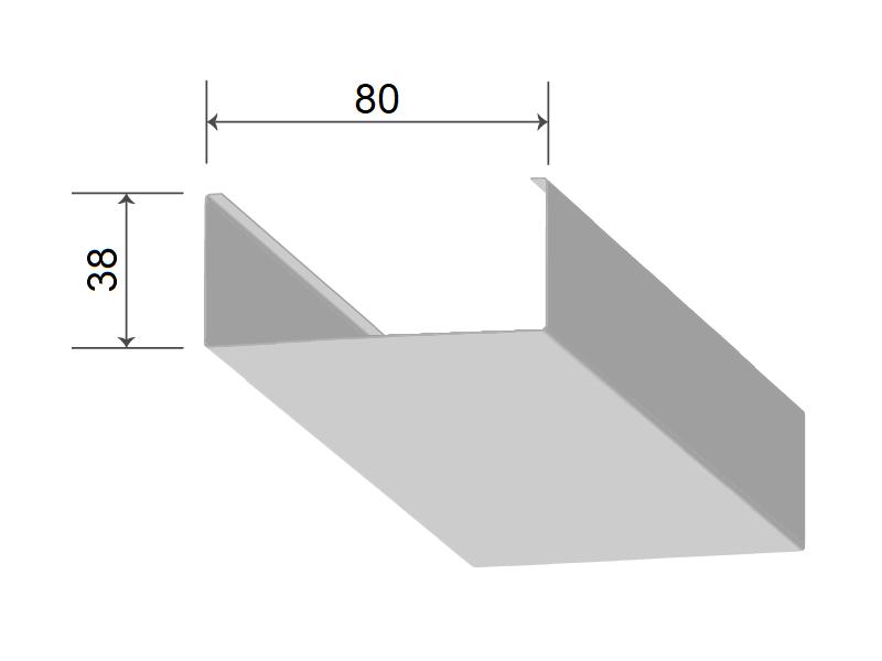 Кубообразная рейка 80/38 мм С - Скандинавский дизайн дуб медовый 705
