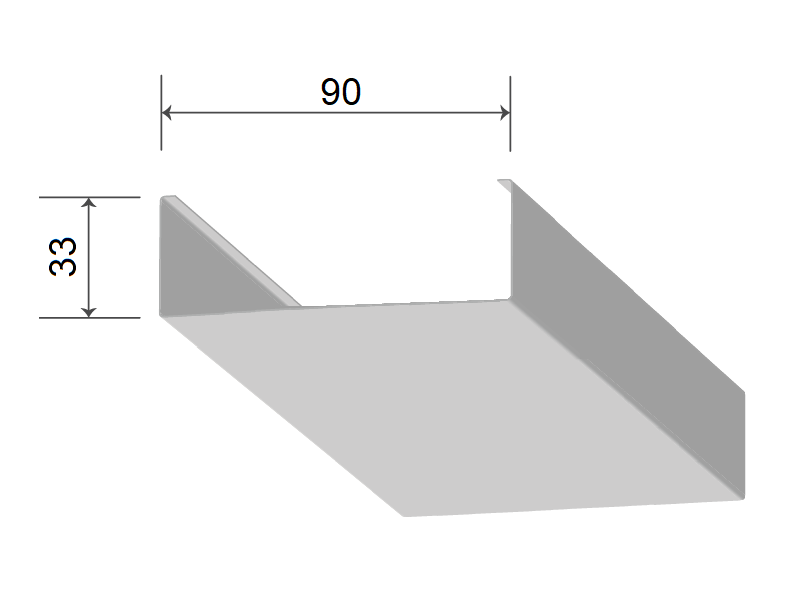 Кубообразная рейка 90/33 мм С - Скандинавский дизайн дуб селект 731