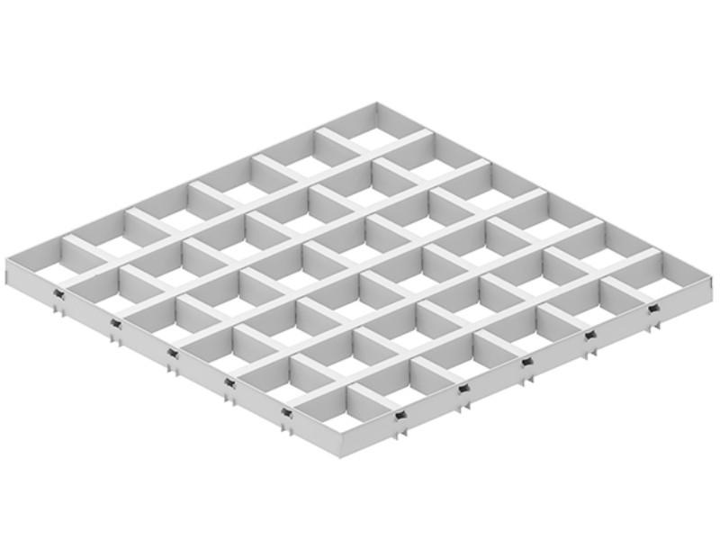 Грильято DL15 100х100 выс. 37 шир. 15 белый