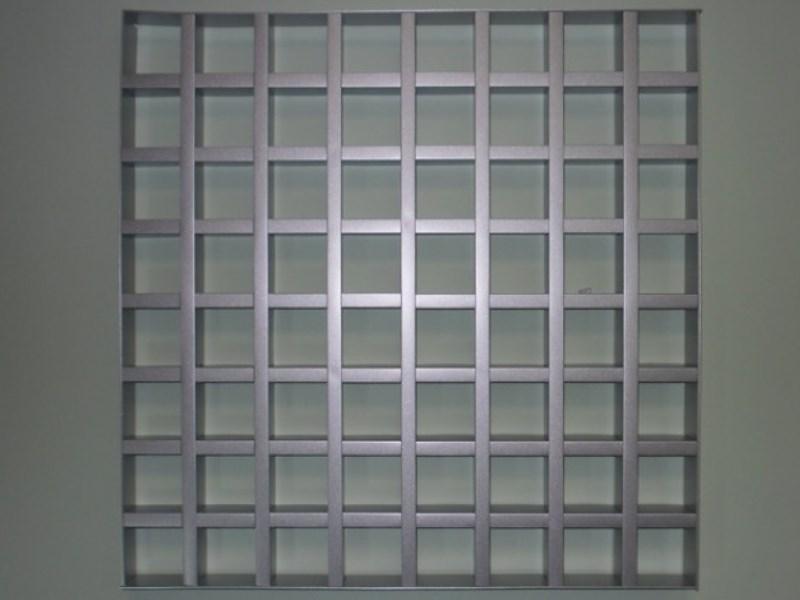 Грильято DL15 75х75 выс. 37 шир. 15 металлик
