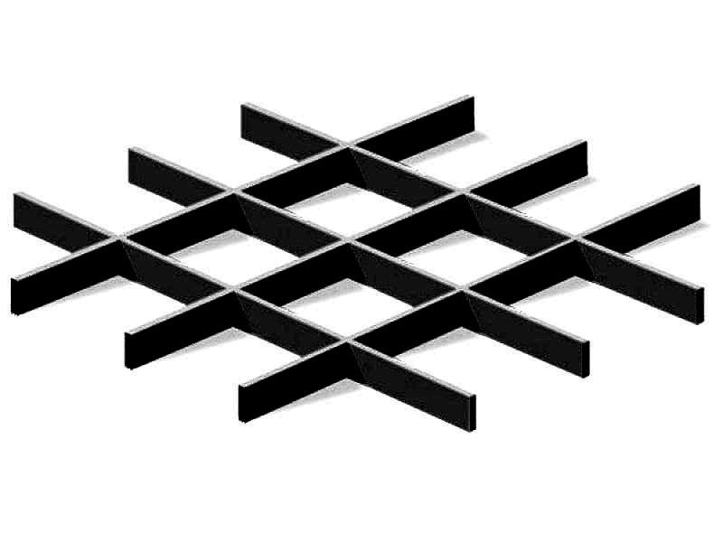 Грильято Эконом 150х150 выс. 40 шир. 10 черный