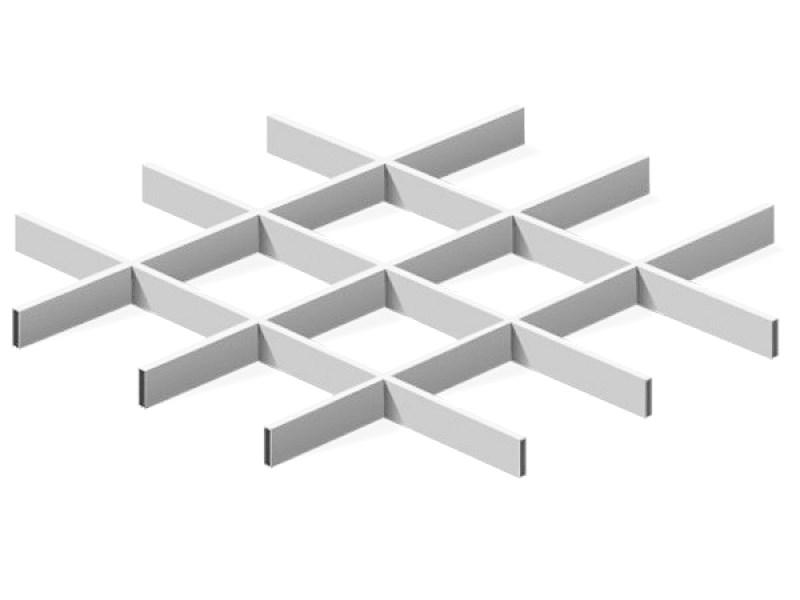 Грильято Эконом 150х150 выс. 40 шир. 10 металлик