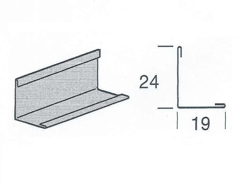 Угловой пристенный молдинг 19x24